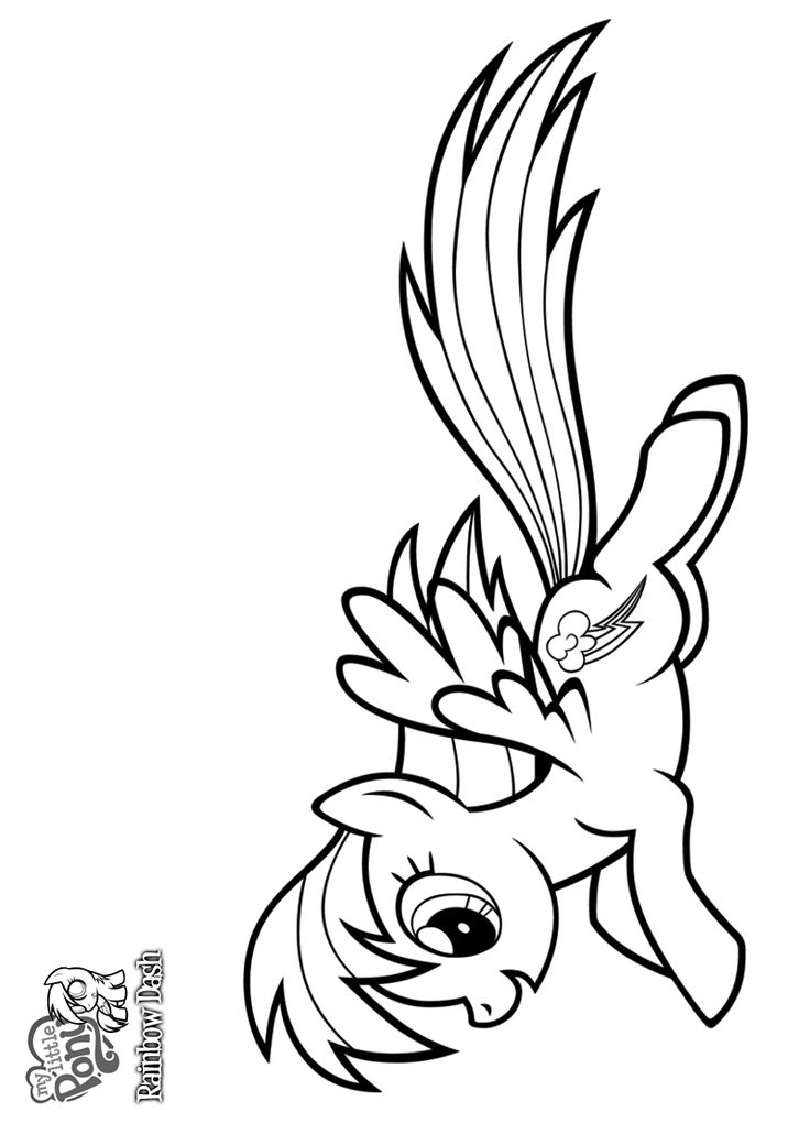 Rainbow Dash Free Printable Coloring Pages