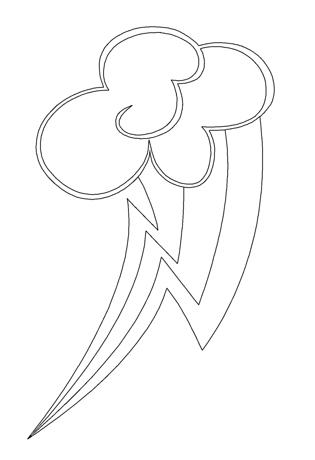Rainbow Dash Logo Coloring Pages