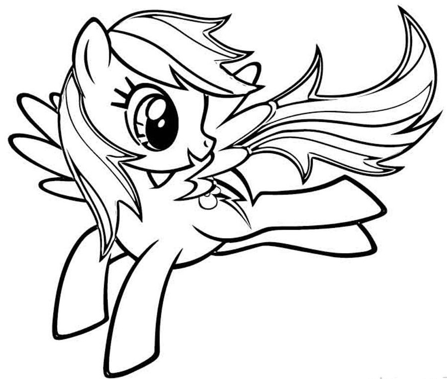Rainbow Dash My Little Pony Coloring Sheets