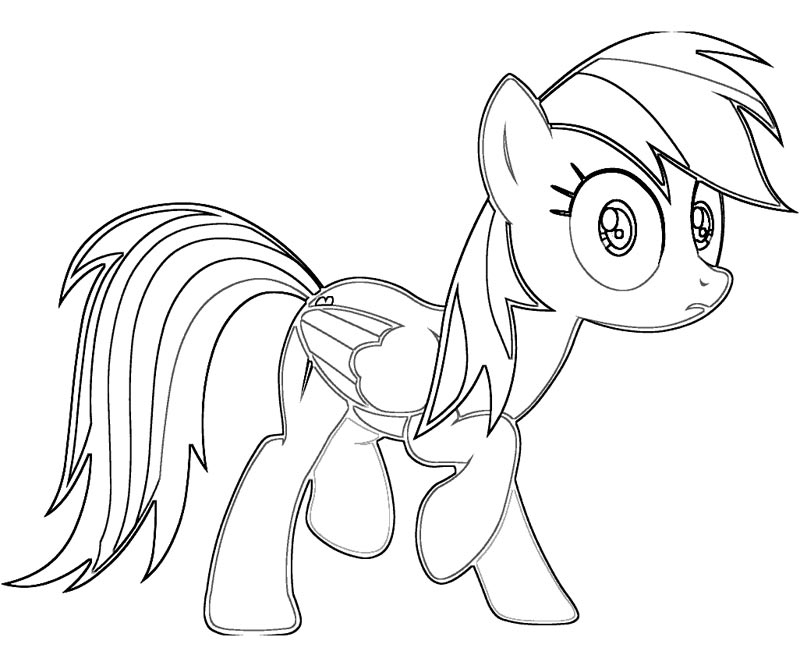 Rainbow Dash Outline Coloring Page