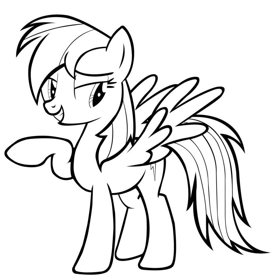 Rainbow Dash Printable Coloring Pages