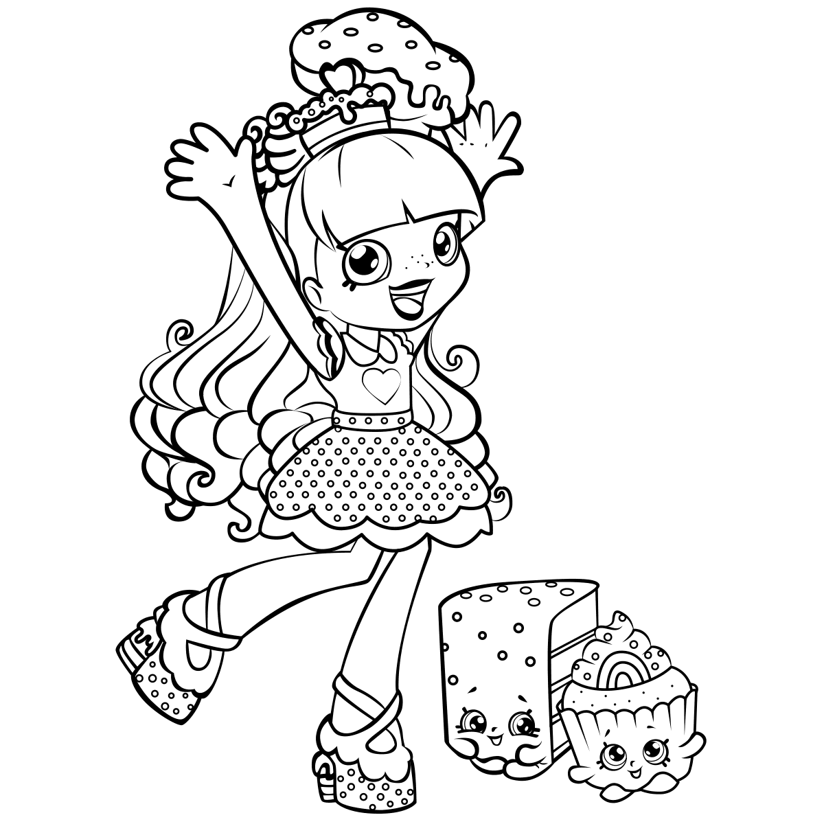 Rainbow Kate Shoppies Coloring Pages