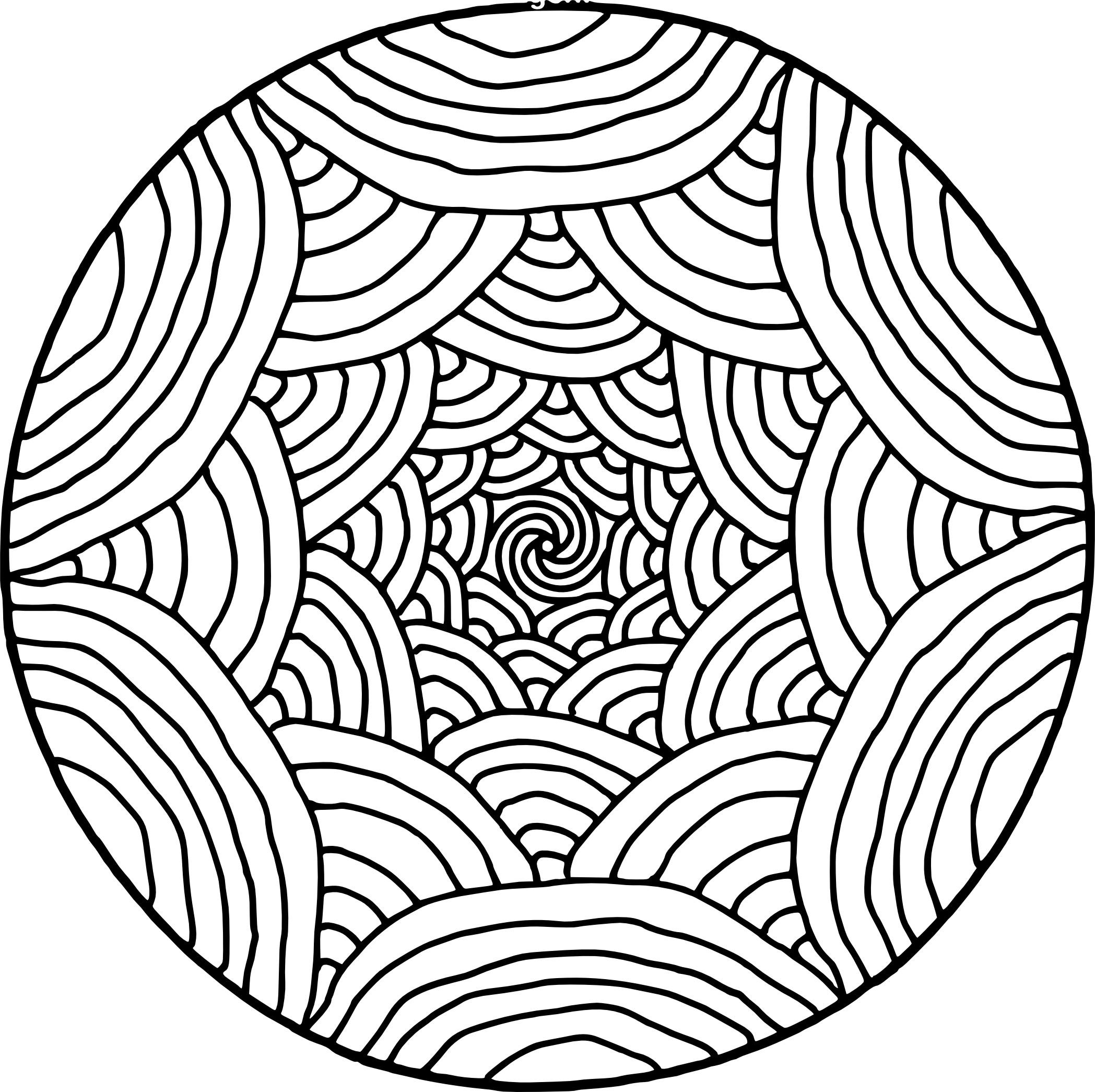 Rainbow Pattern Mandala Coloring Page