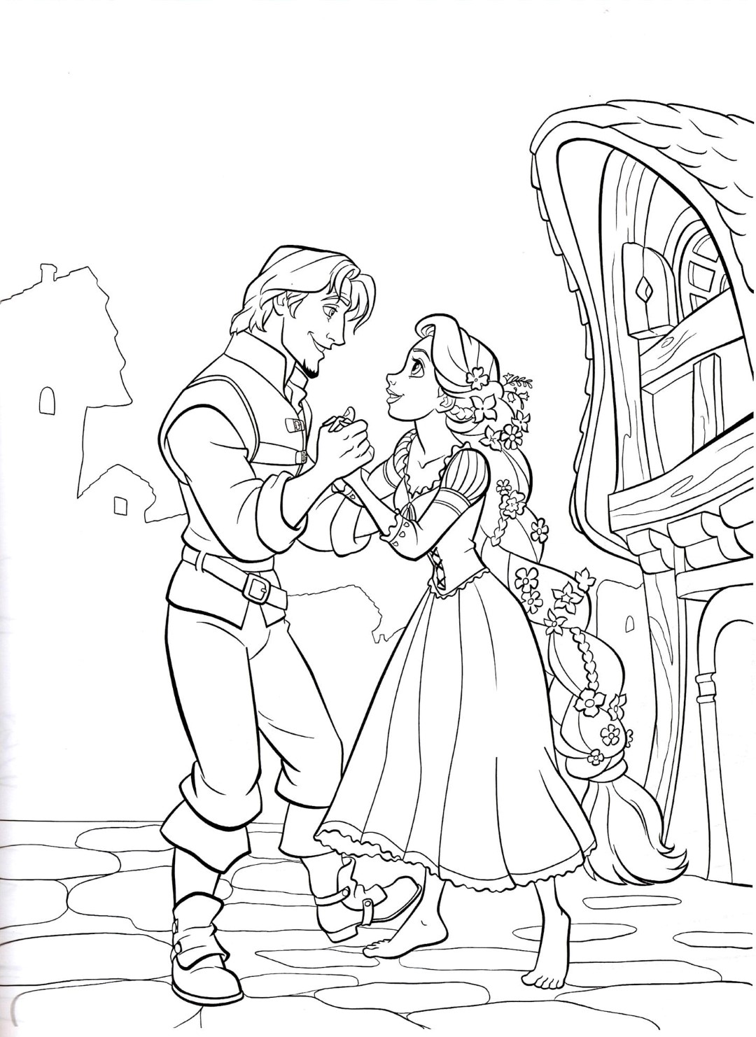 Rapunzel Disney Princess Coloring Pages