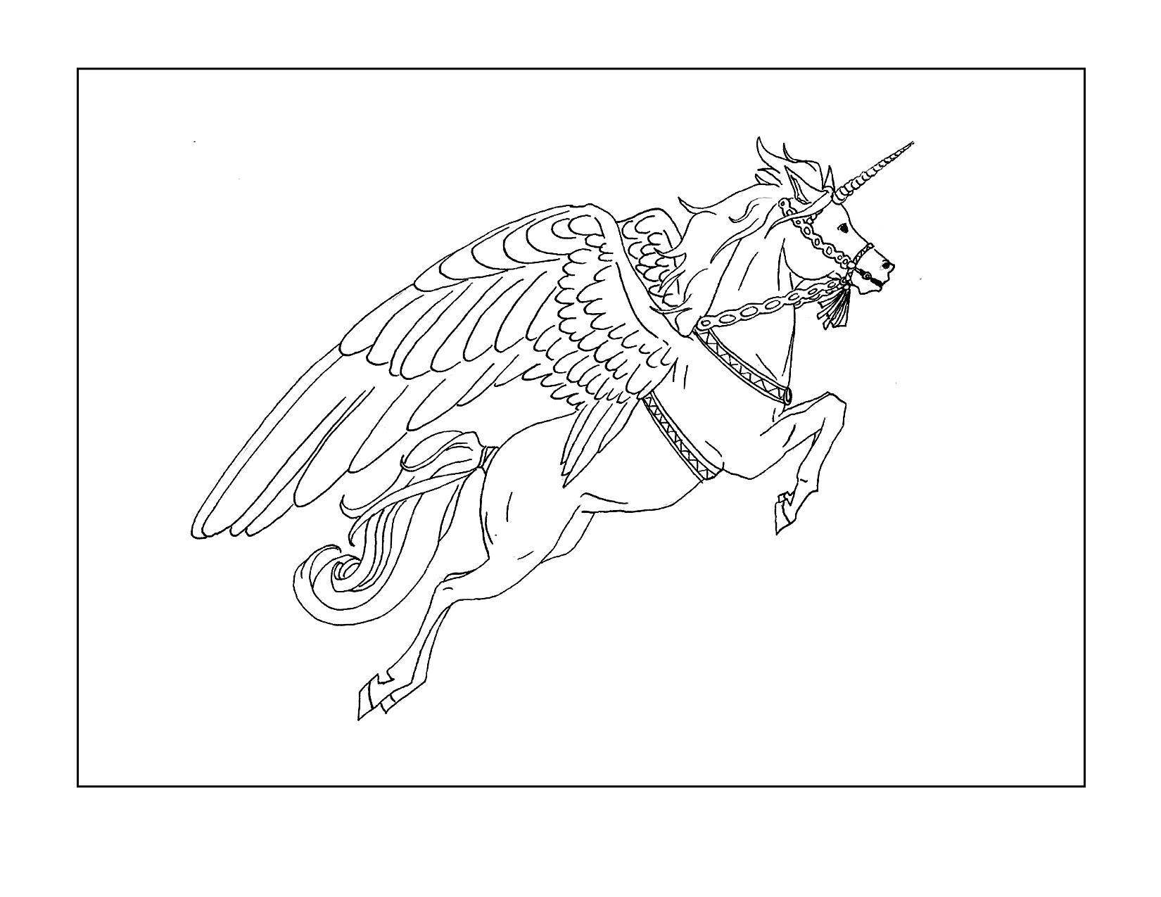 Regal Alicorn Coloring Page