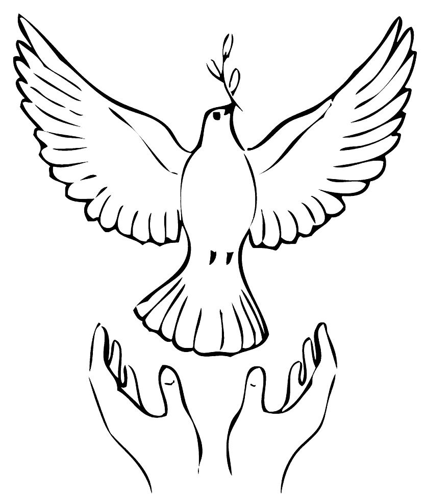 Releasing A Dove Coloring Page