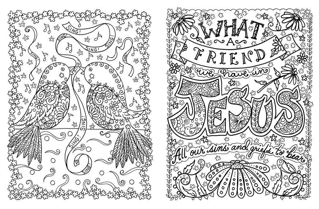 Religious Flower Motivational Adult Coloring Page