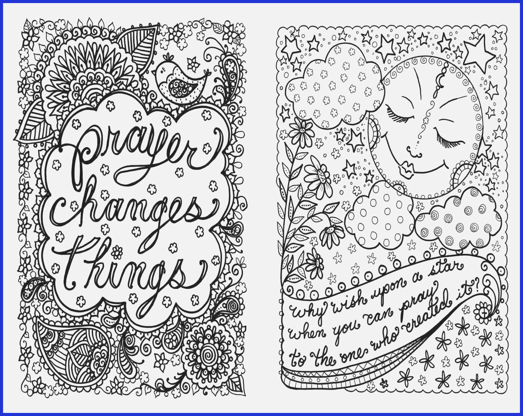 Religious Saying Flower Design Coloring Adults