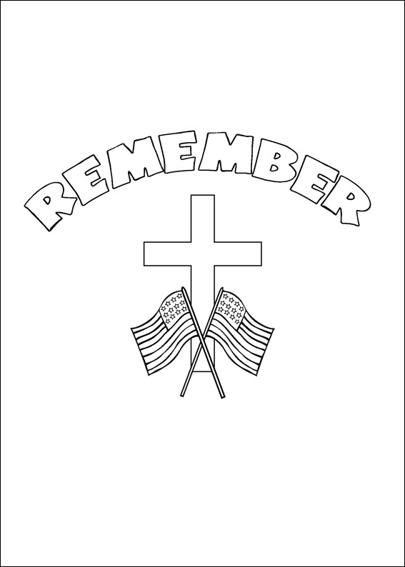 Remember Memorial Day Coloring Page