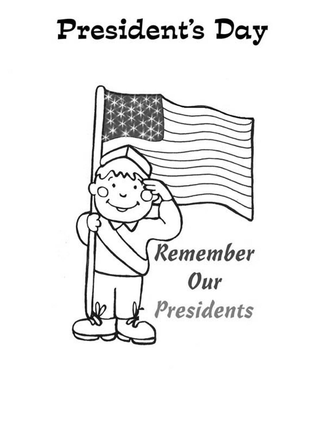 Remember our Presidents Coloring Page