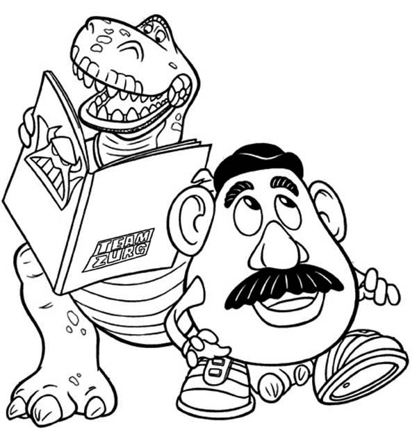 Rex and Potato Head Toy Story Coloring Pages