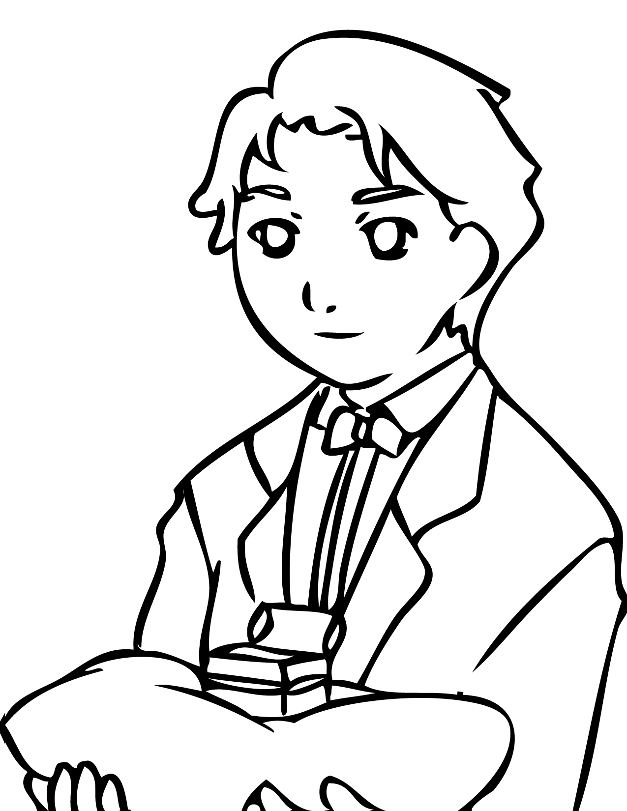 Ring Bearer at Wedding Coloring Page