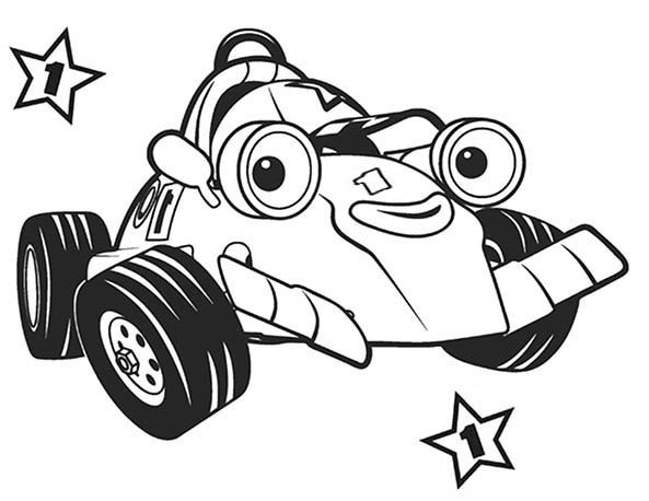 Roary Racing Car Coloring Page
