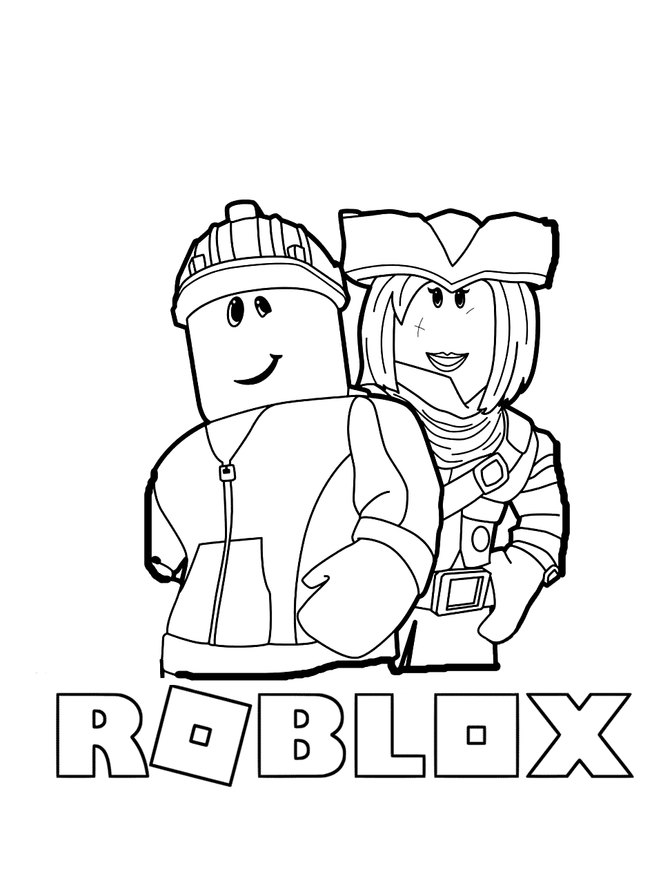 Roblox Characters Coloring Pages Coloring Rocks