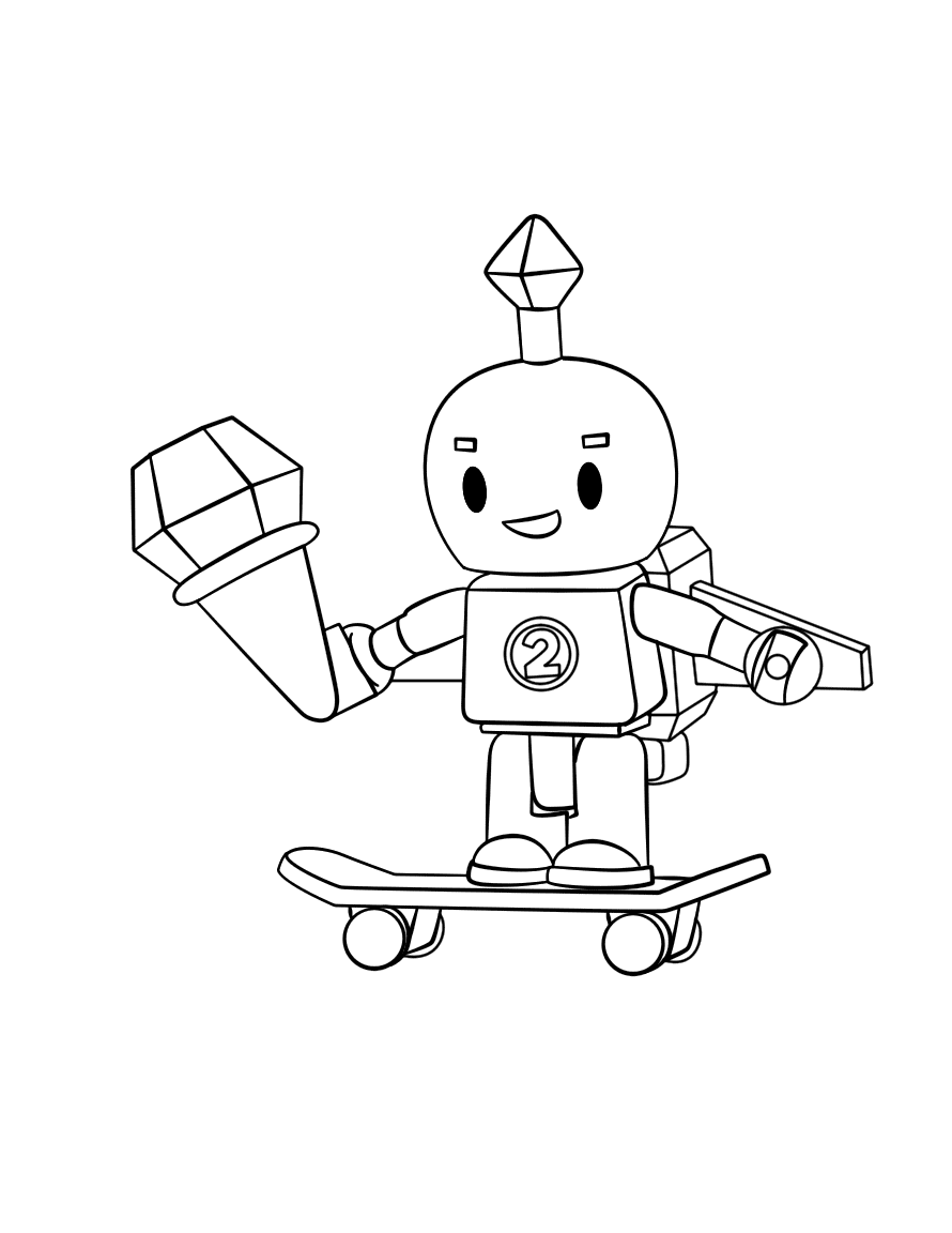 Roblox Skater Coloring Page