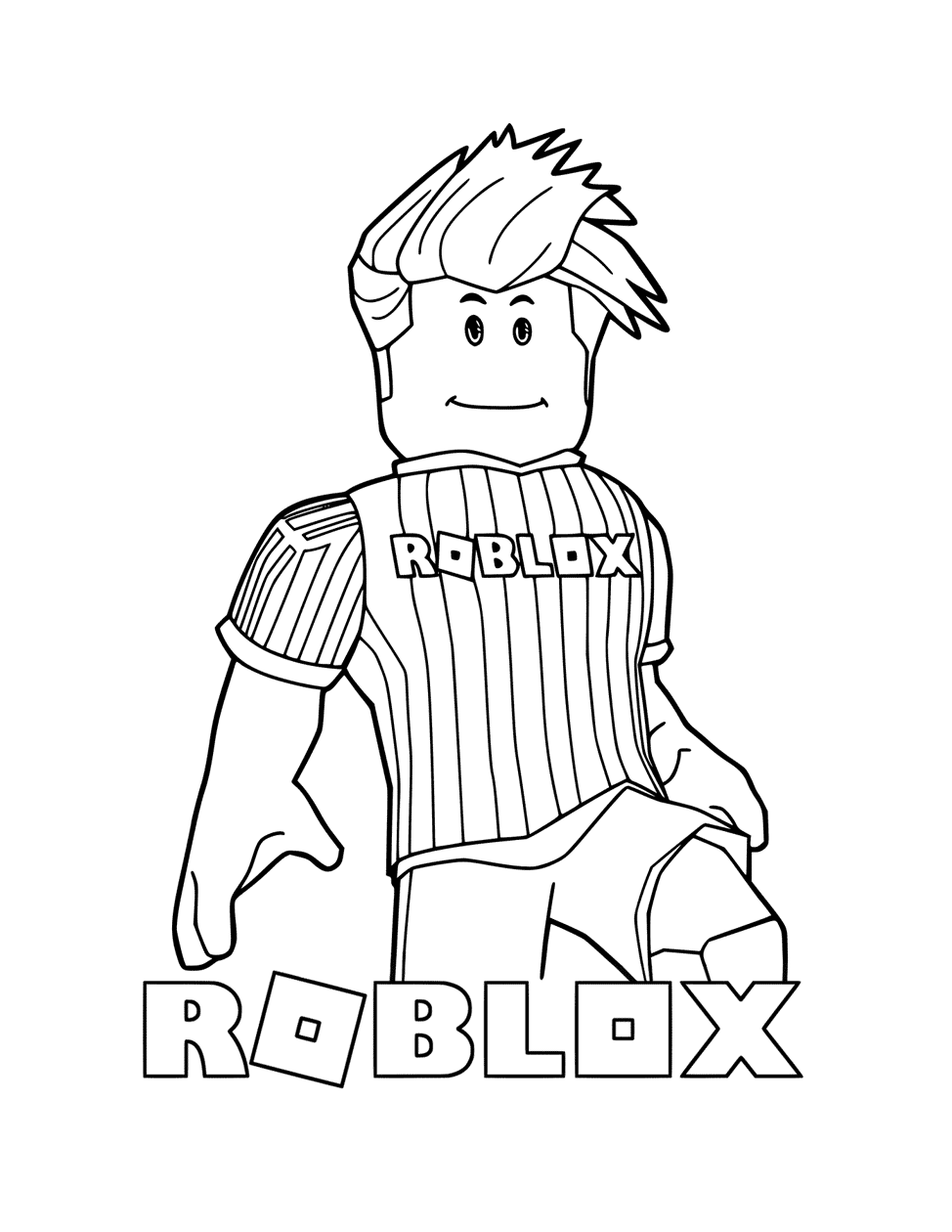 Roblox Soccer Player Coloring Page