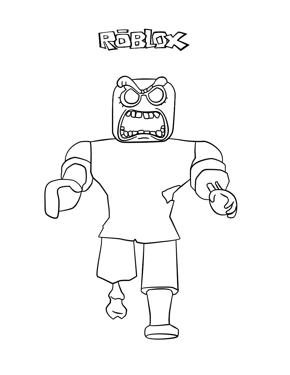 - Roblox Zombie Coloring Pages – Coloring.rocks!