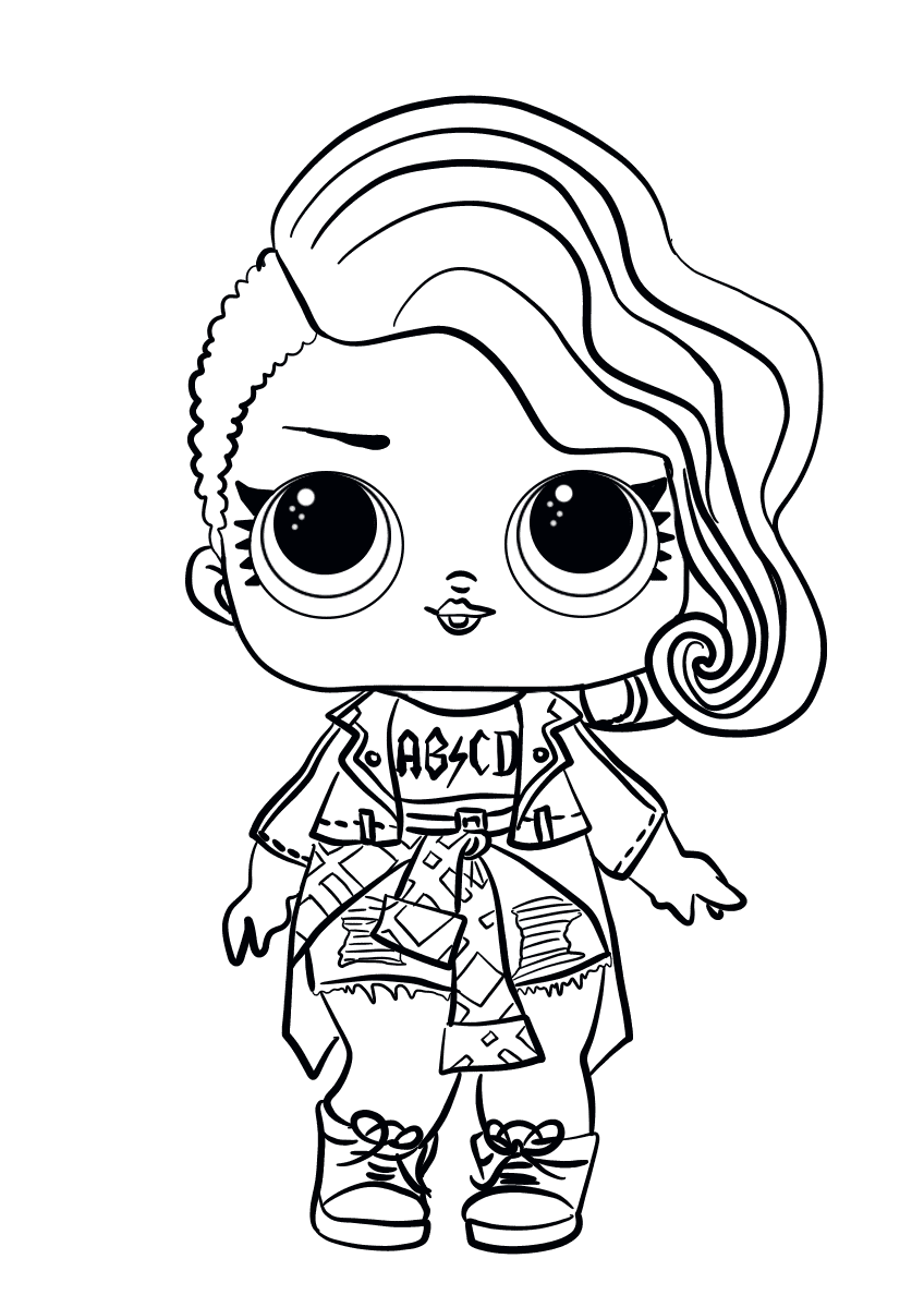 Rocker LOL Dolls Coloring Pages