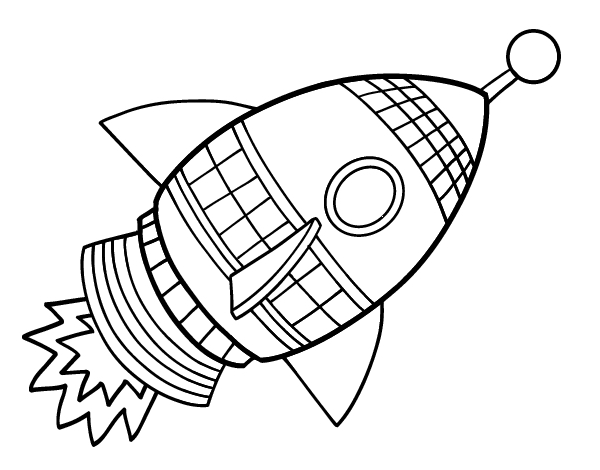 Rocket Coloring Pages for Boys