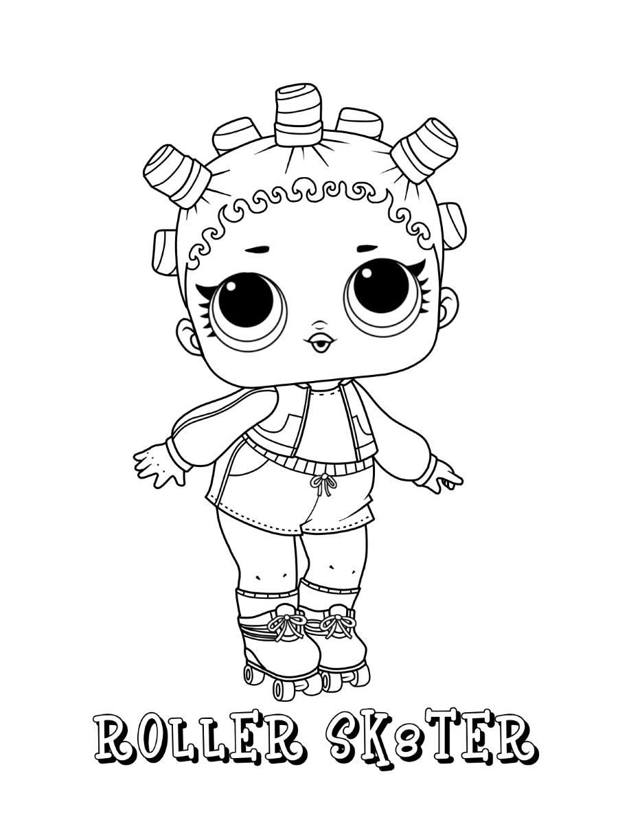 Roller Sk8ter LOL Dolls Coloring Pages