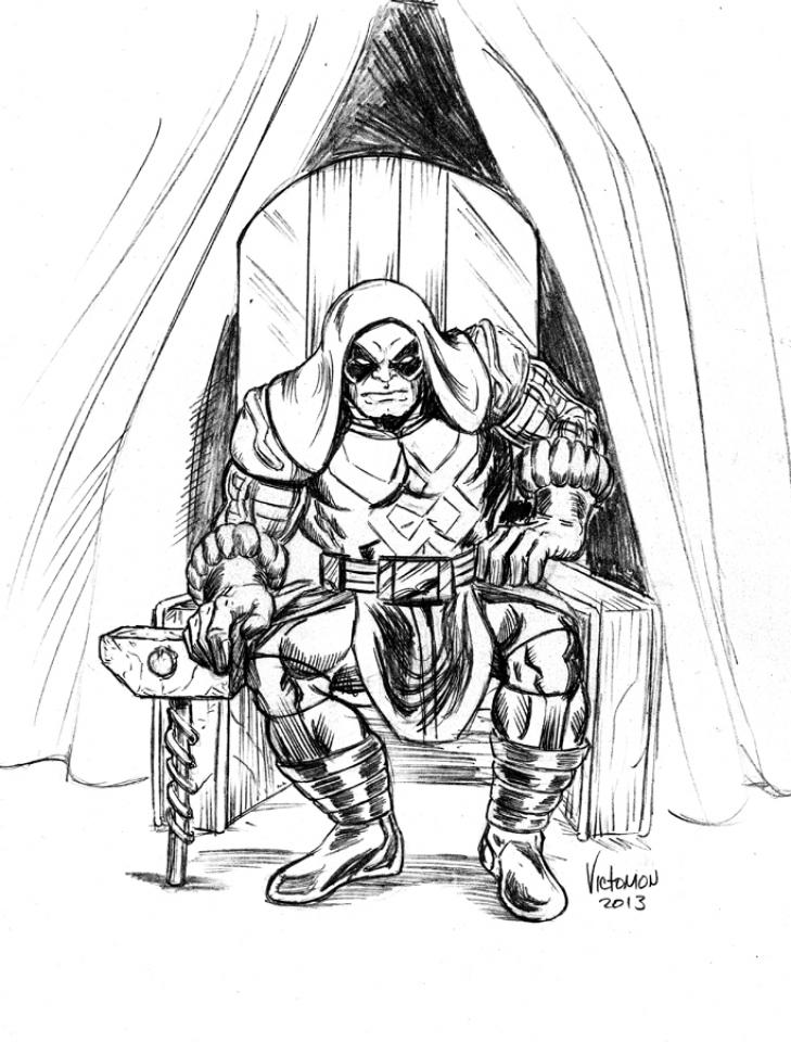 Ronan the Accuser - Guardians super Villain Coloring Page