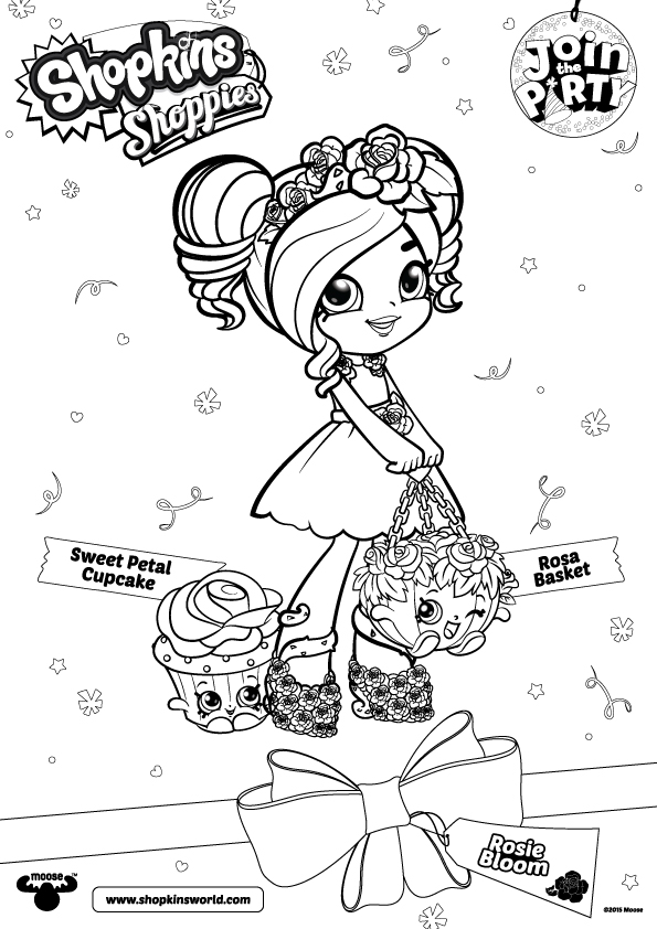 Rosie Bloom Shoppies Coloring Pages
