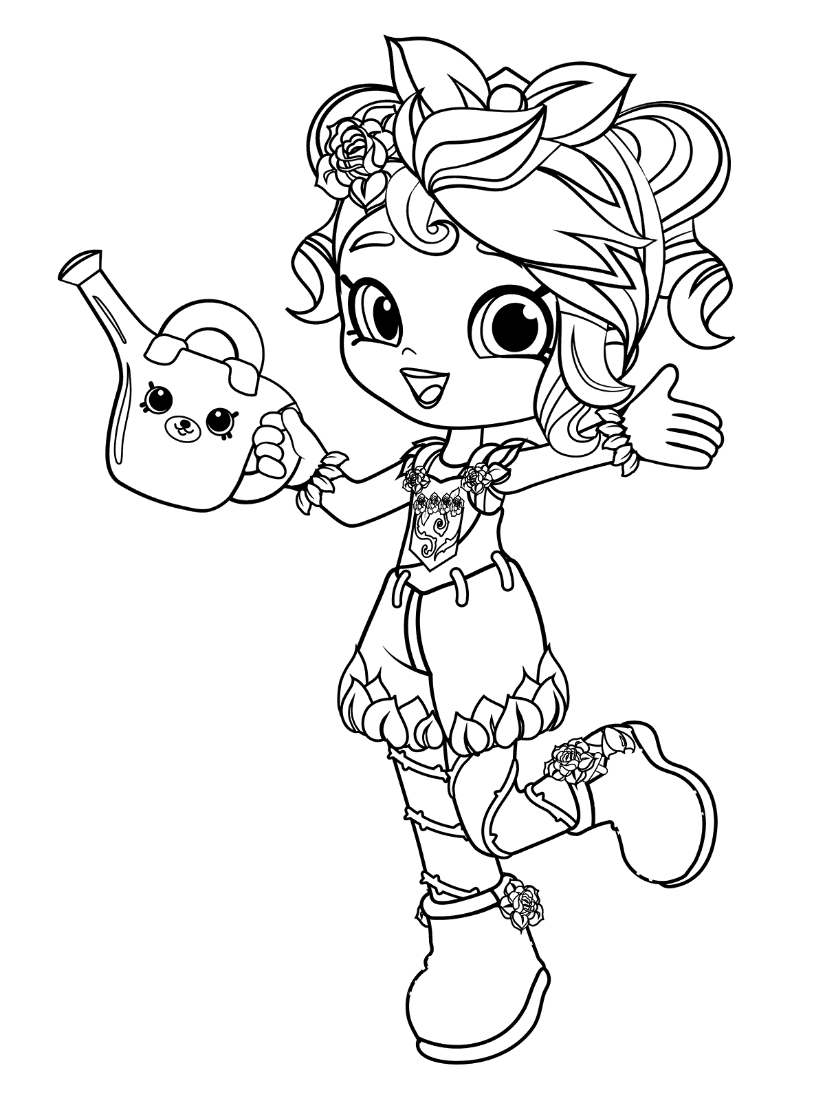 Rosie Bloom Shoppies - Shopkins Coloring Pages