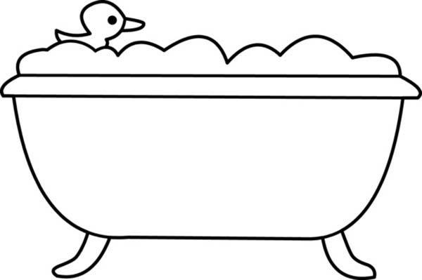 Rubber Duck Bath Coloring Pages