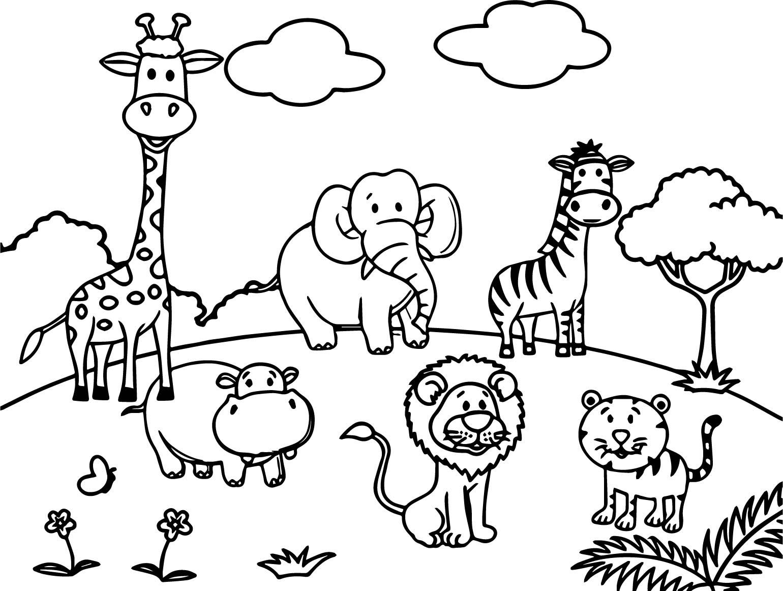 safari animal coloring pages