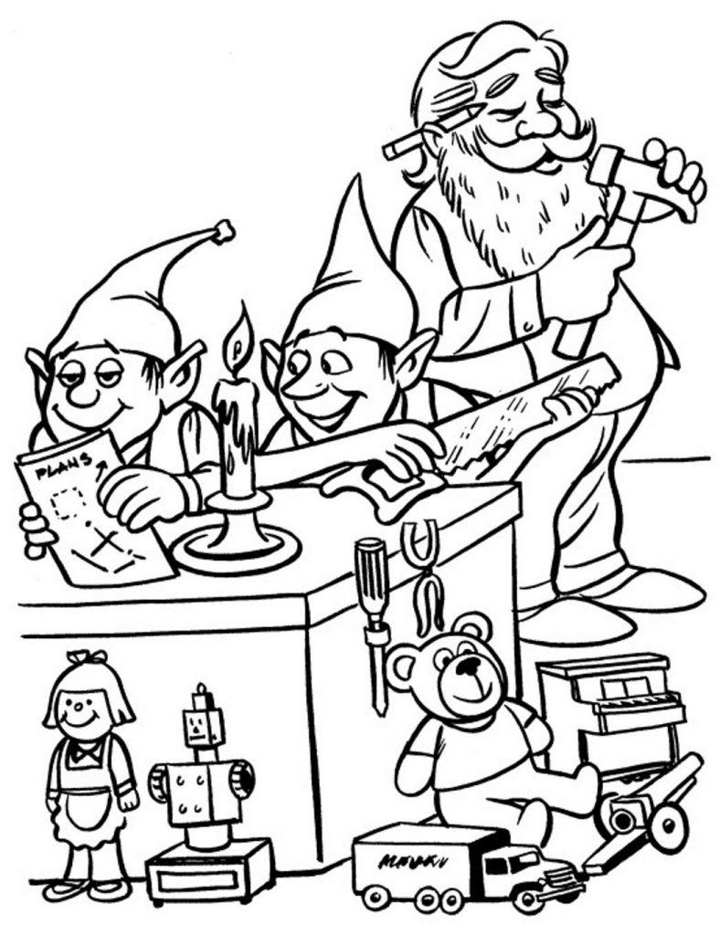 Santas Workshop Coloring Pages