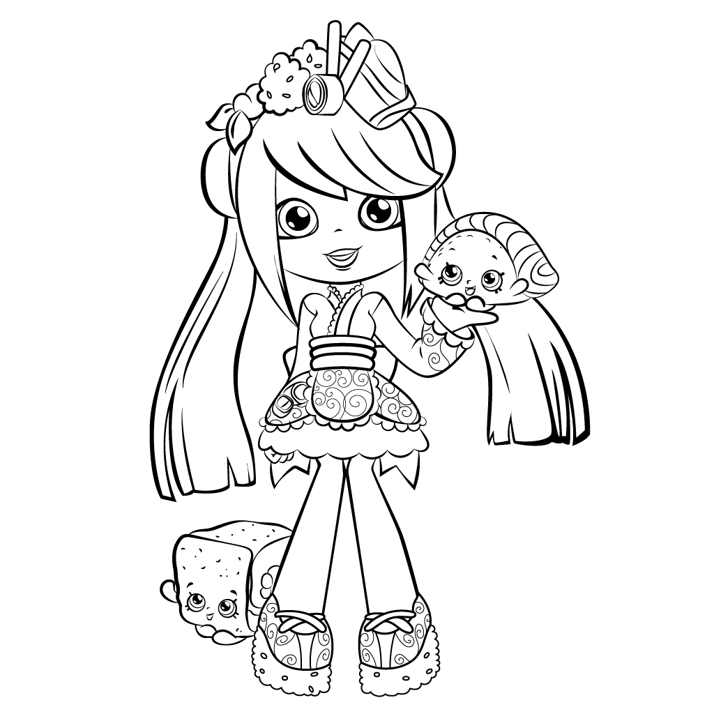Sara Sushi Shoppies Coloring Pages