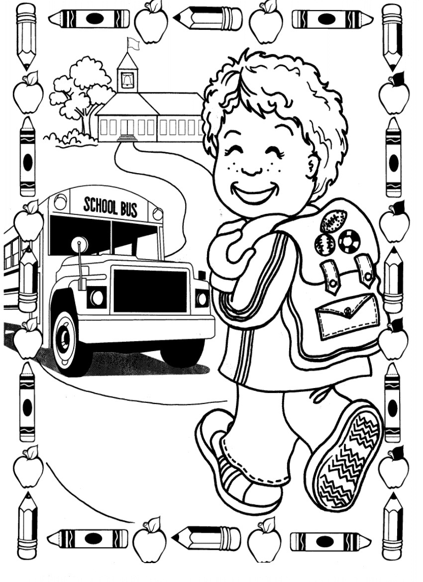 School Kindergarten Coloring Pages