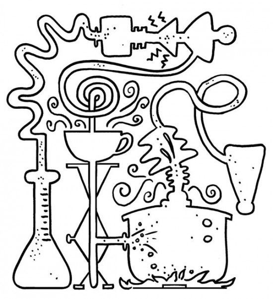 Science Lab Coloring Page