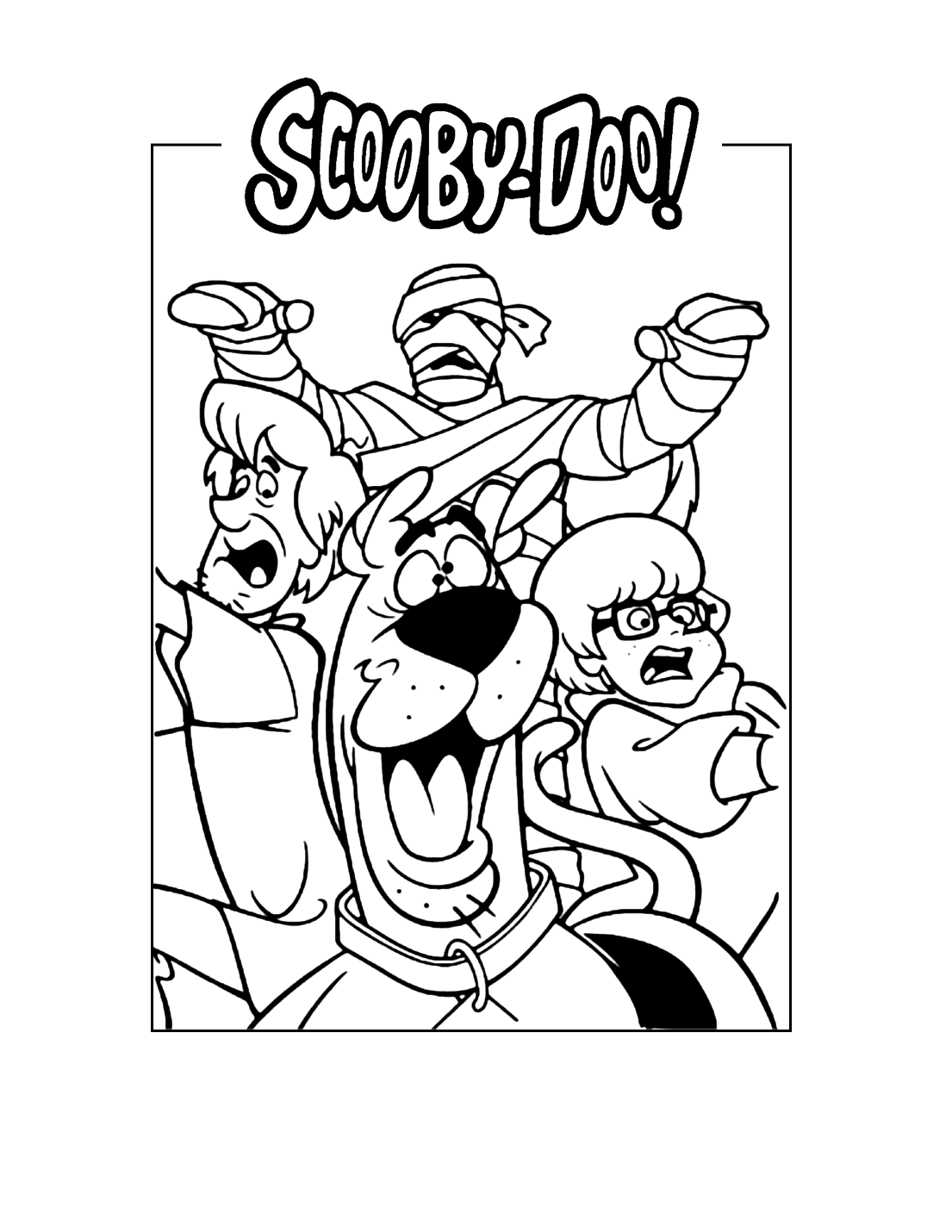 Scooby Doo Mummy Coloring Page
