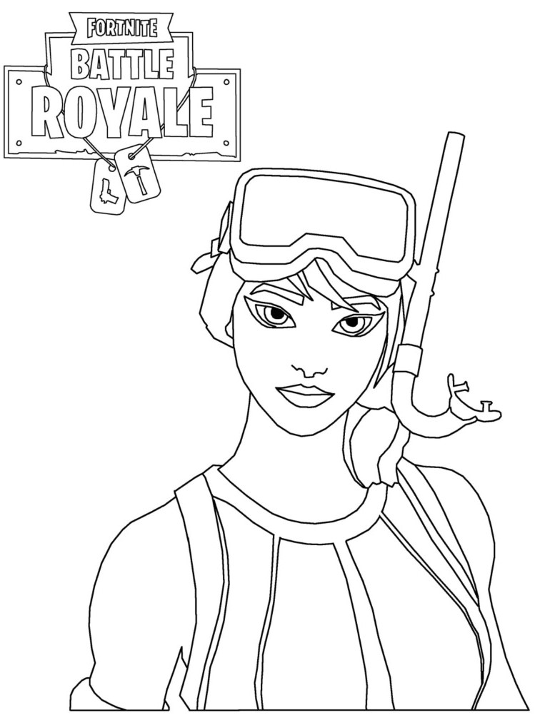 Scuba Skin Fortnite Coloring Pages