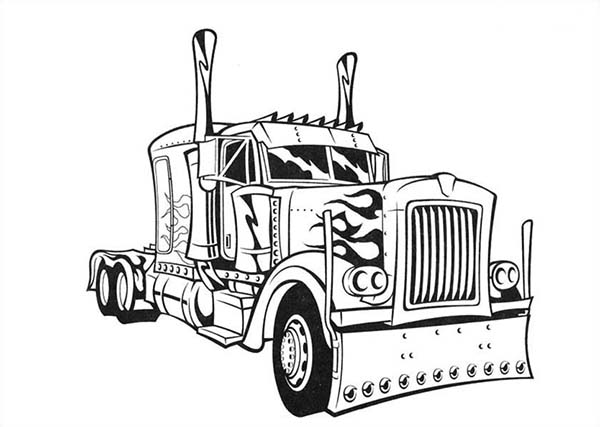 Semi Truck Coloring Page Free Printables