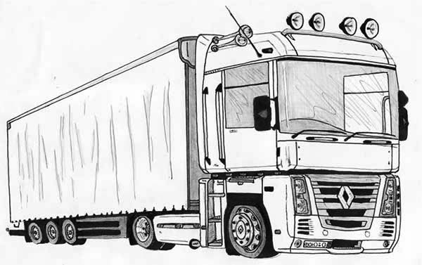Truck Coloring Pages Coloring Rocks