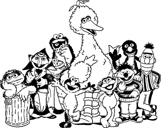 Sesame street coloring pages | Free Coloring Pages | 508x640