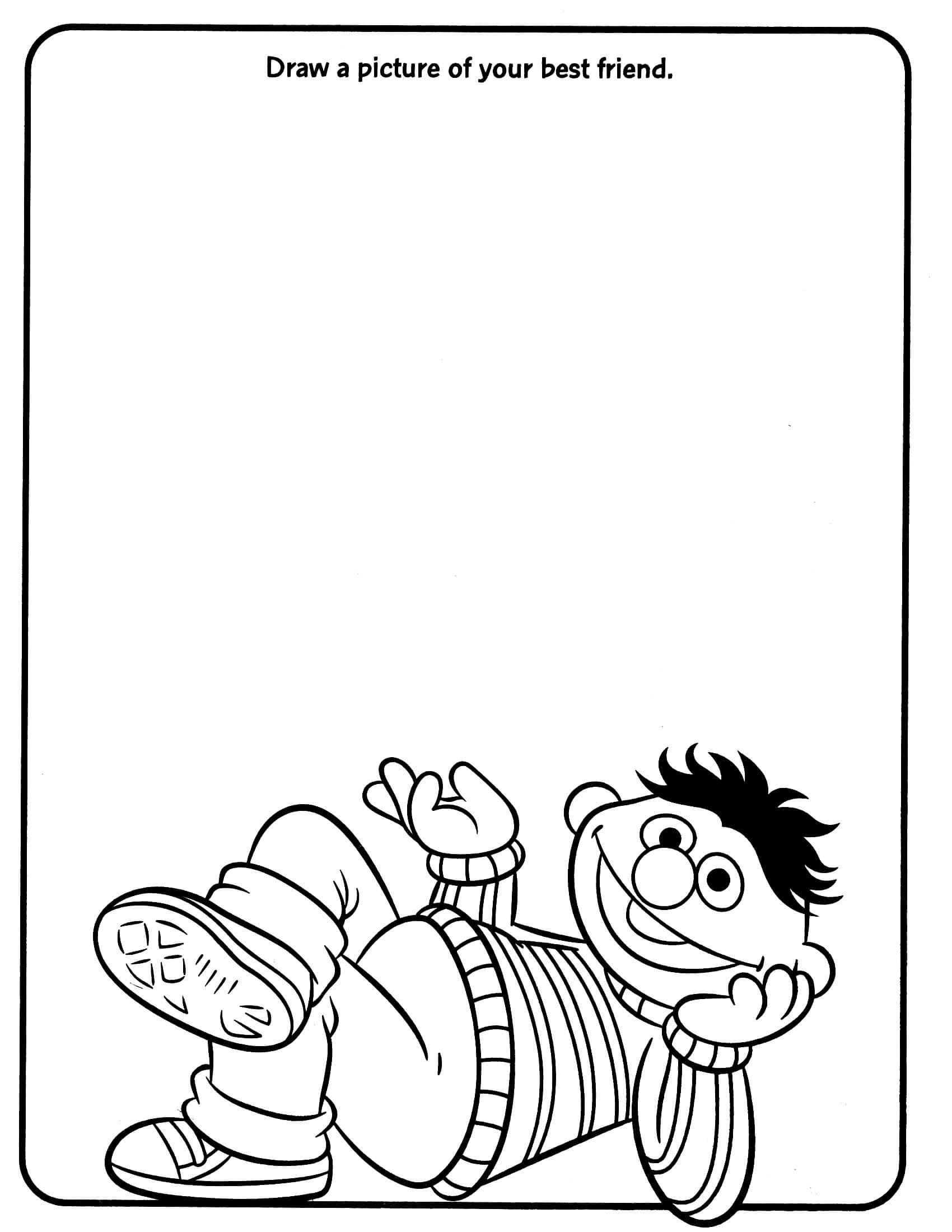 Sesame Street Drawing Worksheet