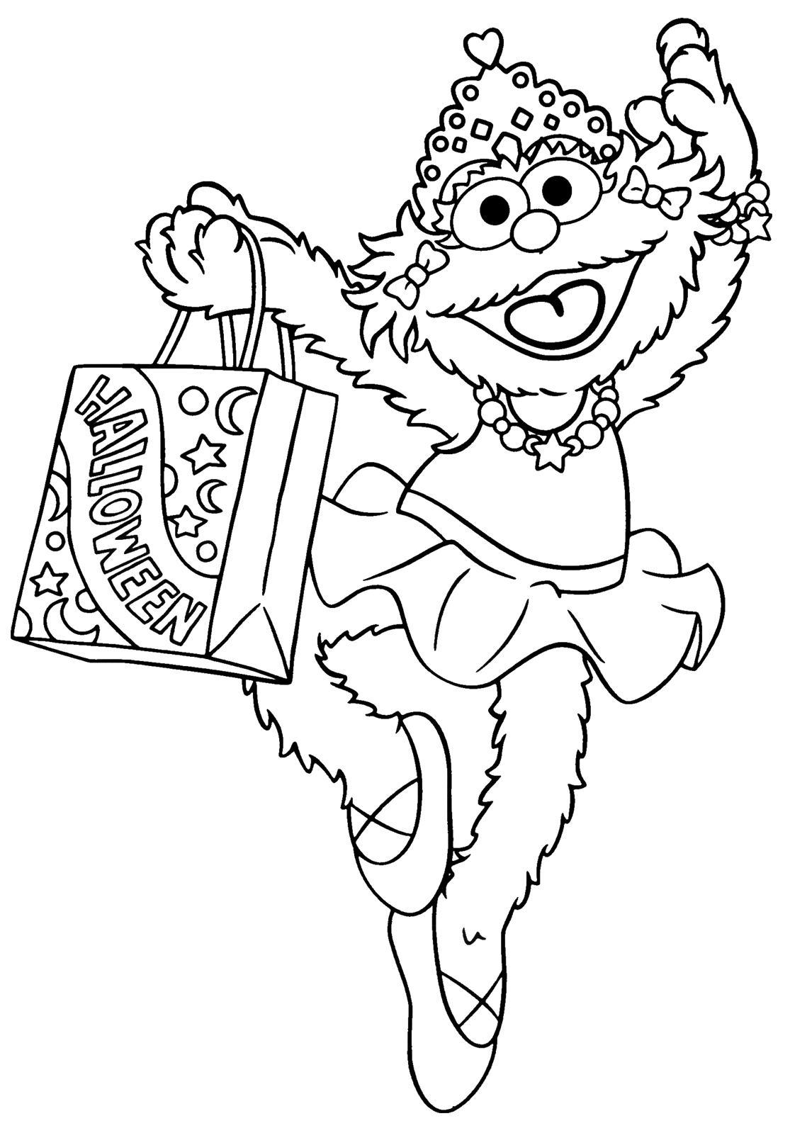 Sesame Street Halloween Coloring Pages