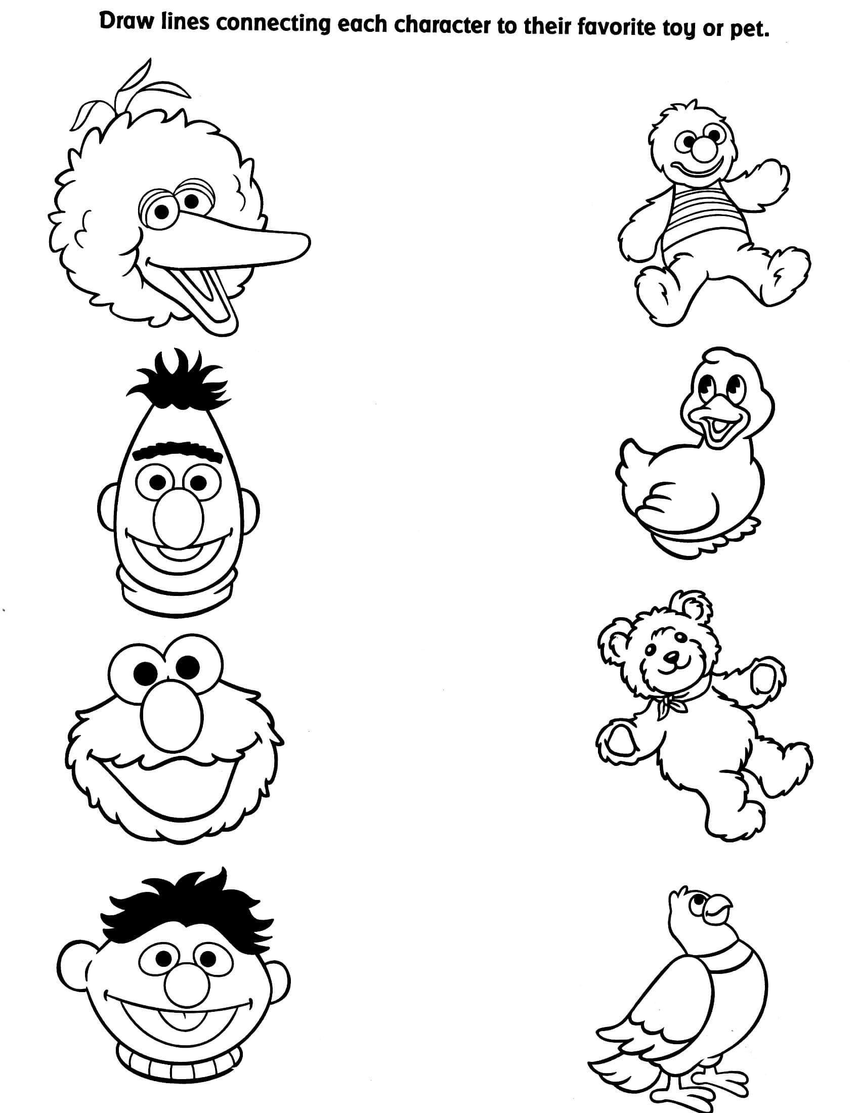 Sesame Street Matching Sheet