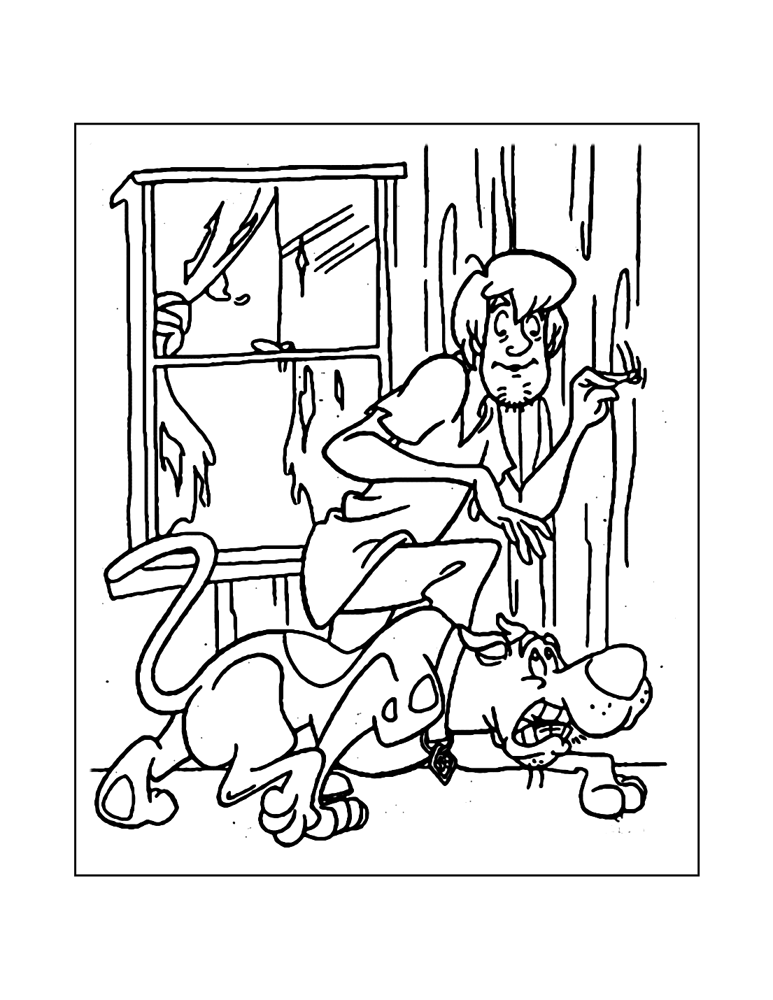 Shaggy And Scooby Doo Coloring Pages