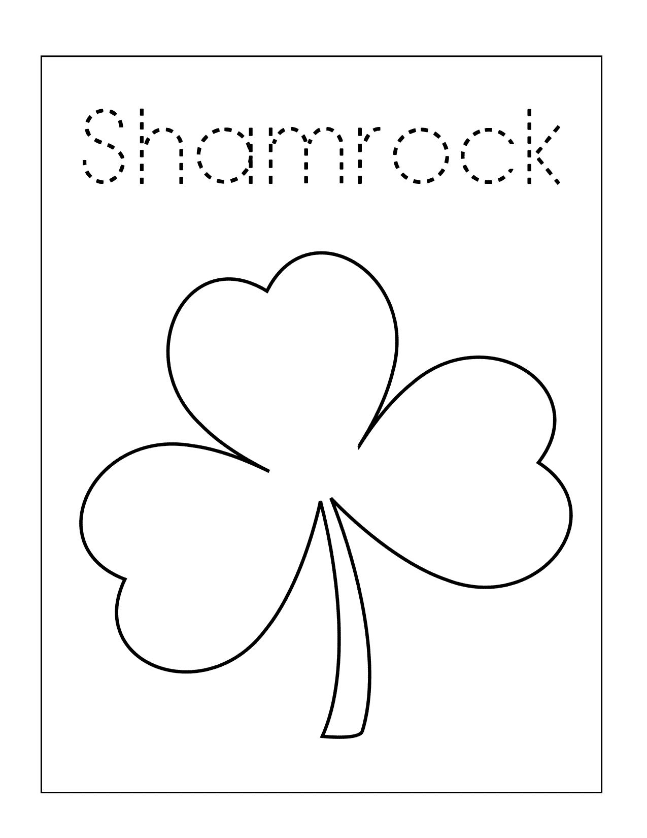 Shamrock Spelling Sheet
