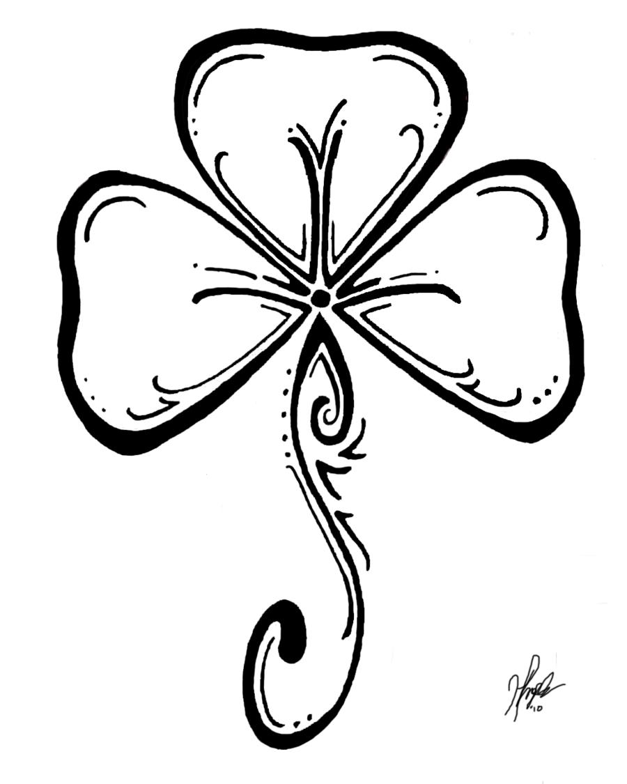 Shamrock - St Patricks Day Coloring Page