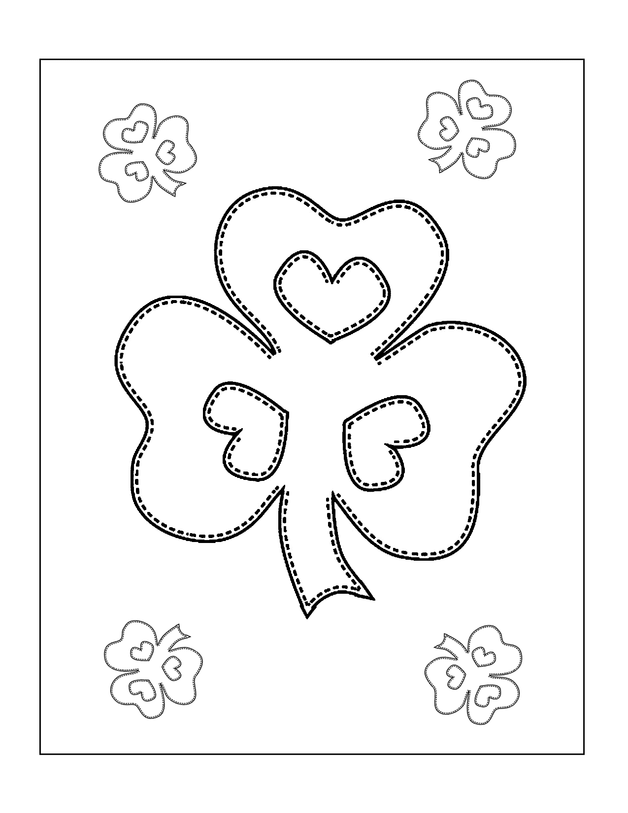 Shamrocks Coloring Page