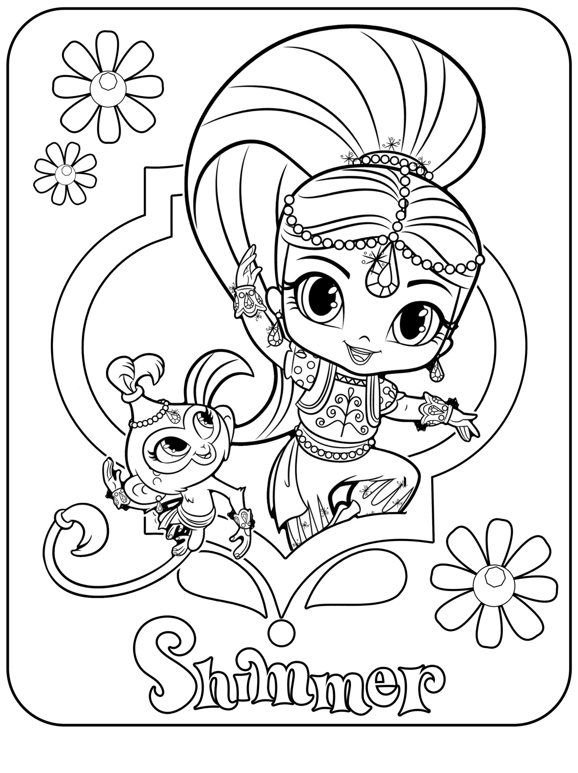 Shimmer Printable Coloring Page
