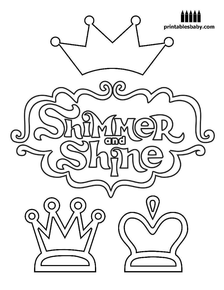 Shimmer and Shine Logos Coloring Pages