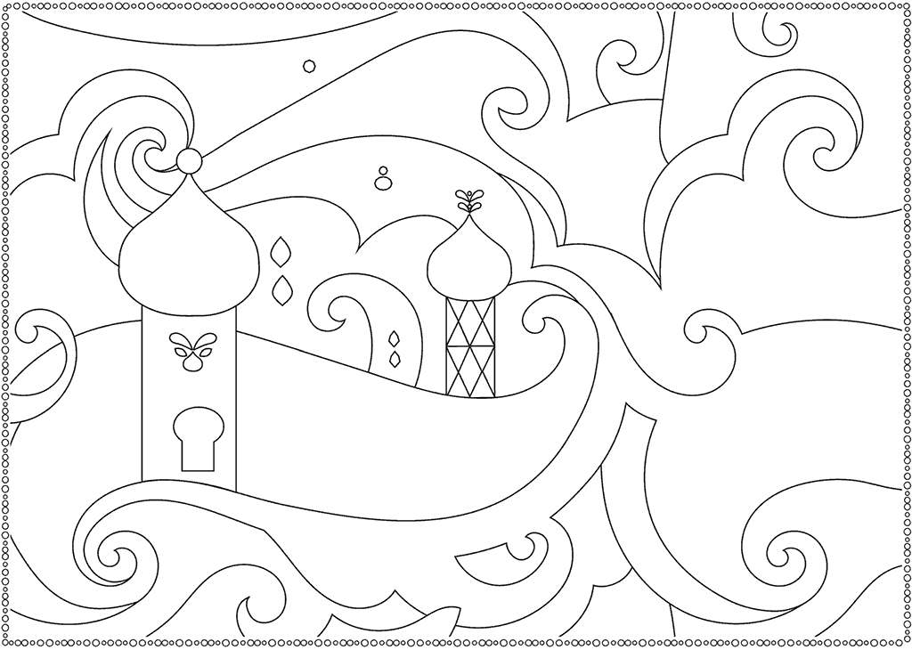 Shimmer and Shine Palace Picture to Color