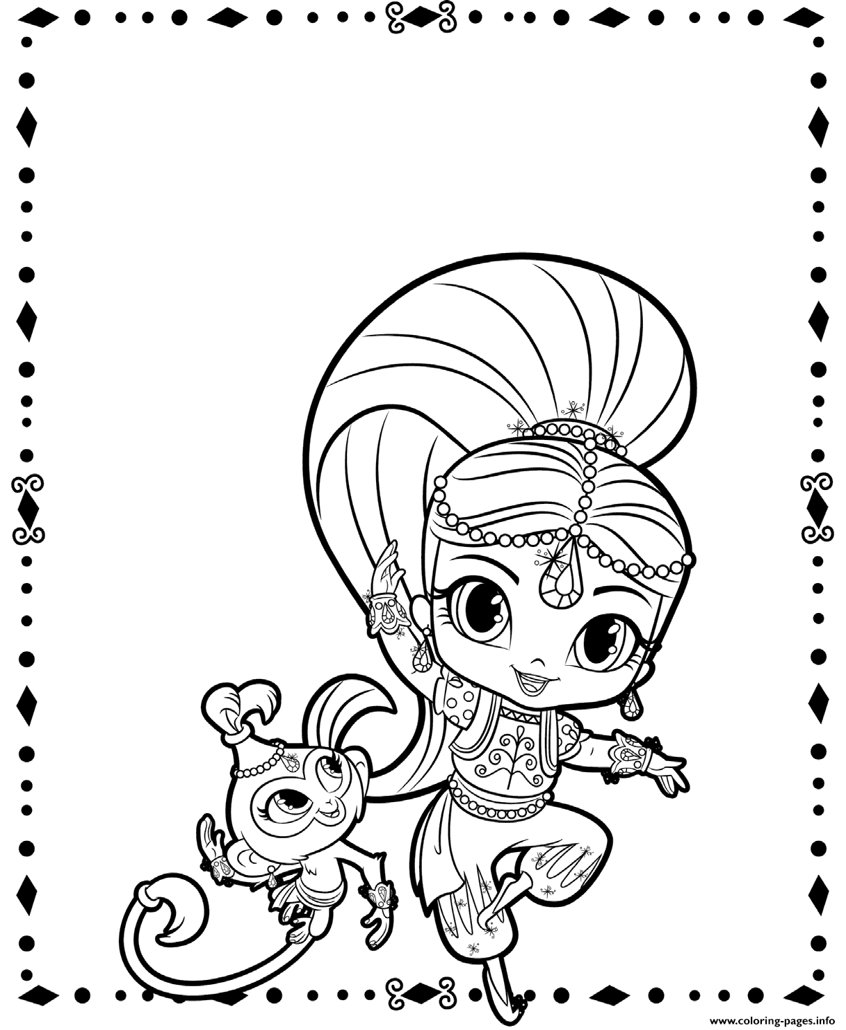 Shimmer and Tala Coloring Page