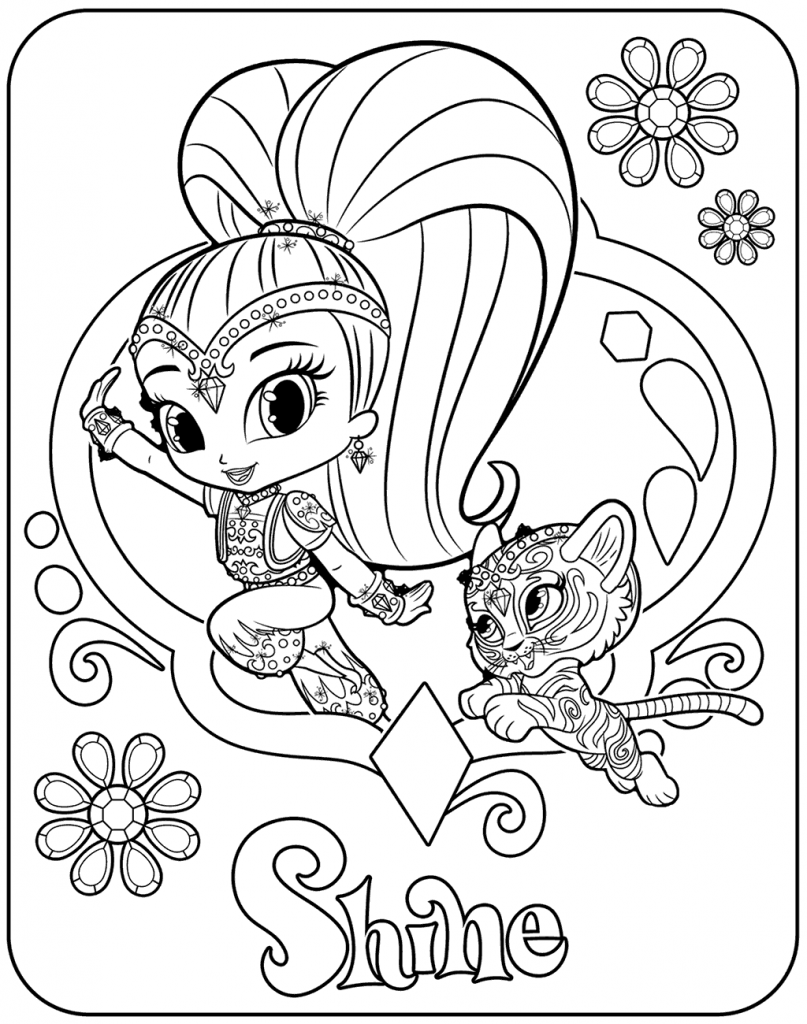Shine Coloring Page